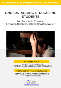 FREE handbook for English language teachers showing how to QUICKLY AND EASILY recognize and help struggling EFL ESL students.