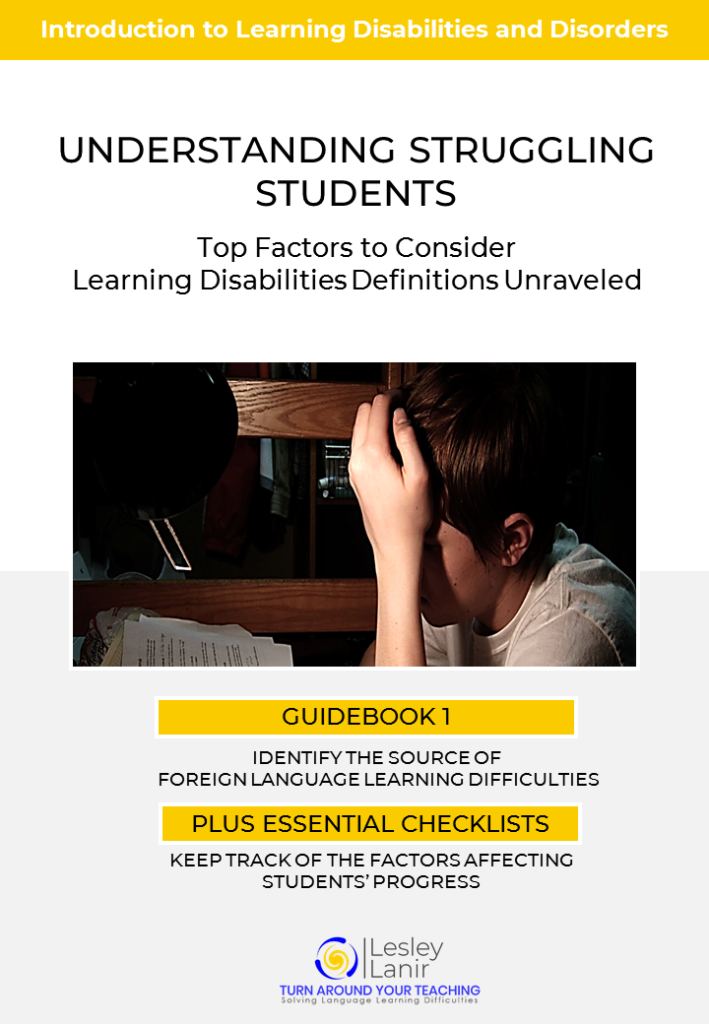 A FREE 26-page handbook showing you how to QUICKLY AND EASILY recognize and help struggling students.